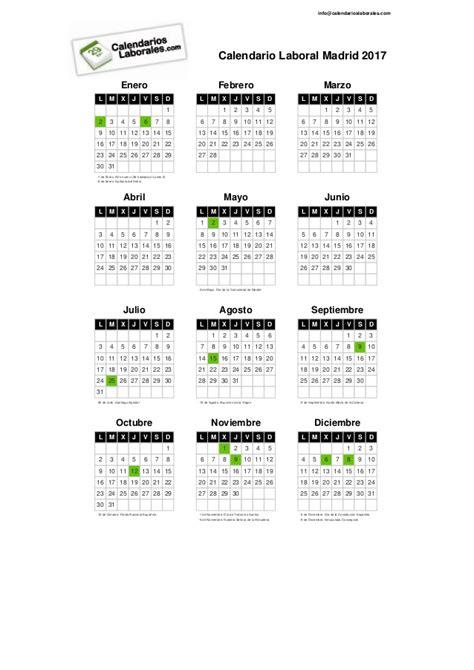 calendario oficial 2016 2017 slidesharenet calendario laboral 2017