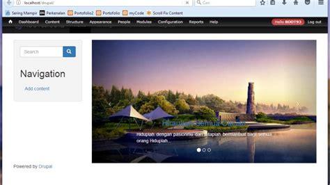membuat slide dengan bootstrap webhozz website cantik dengan drupal bootstrap 14 membuat