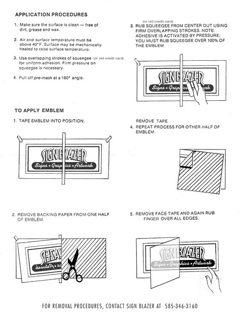 printable vinyl decal application instructions application instructions how to signblazersigns