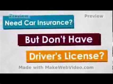 Auto Insurance With No Drivers License   Cheap and Full