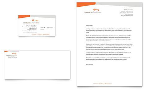 word letterhead template with logo commercial real estate property business card letterhead