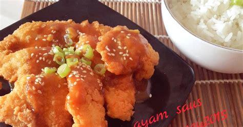 resep ayam wijen saus oleh amei cookpad