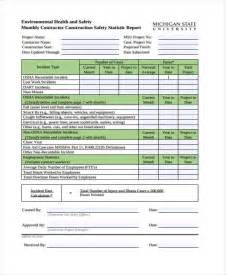 monthly health and safety report template annual health and safety report template 28 images