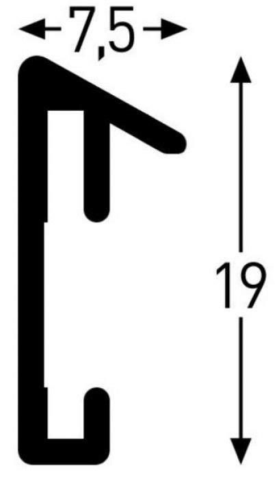 10 x 15 mat opening collage wissellijst 18 openingen 10x15 mat zilver