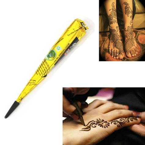 tattoo ointment diy indian henna paste cone beauty women mehndi finger body