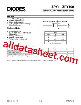 power diode part number zpy12 datasheet pdf diodes incorporated