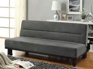callie gray microfiber click clack sofa bed contemporary
