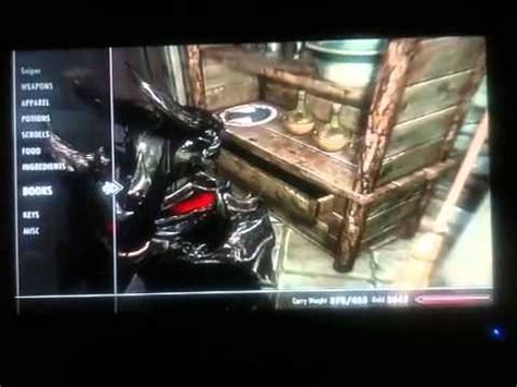 skyrim oghma infinium easier glitch no bookshelf