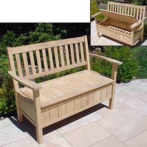 outdoor storage bench country decor   wooden