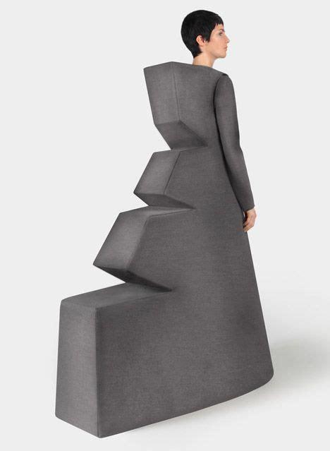 geometric fashion bold 3d dress architectural fashion