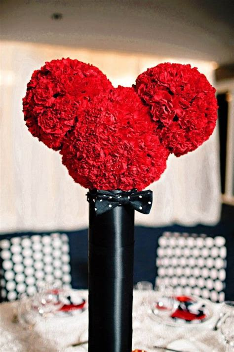 mickey mouse wedding centerpieces mickey flower arrangement is this how we should do