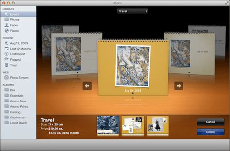 iphoto calendar layout options create web galleries and calendar from iphoto for mac