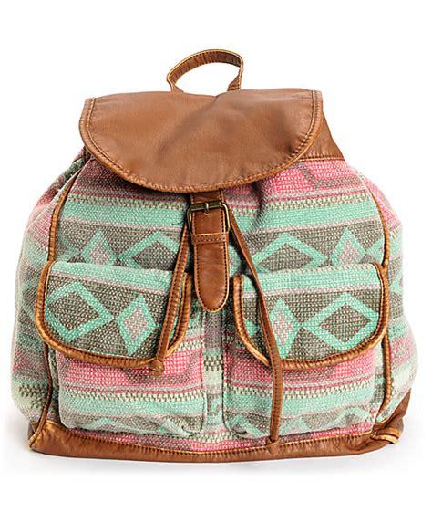 Backpack Blanket by T Shirt Blanket Tribal Print Brown Backpack