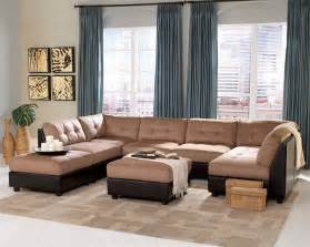 Cindy Crawford Dining Room Furniture claude brown microfiber sectional set sectionals