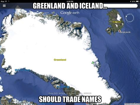 Iceland Meme - greenland and iceland