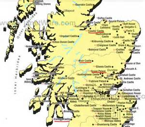 similiar map of castles in scotland keywords