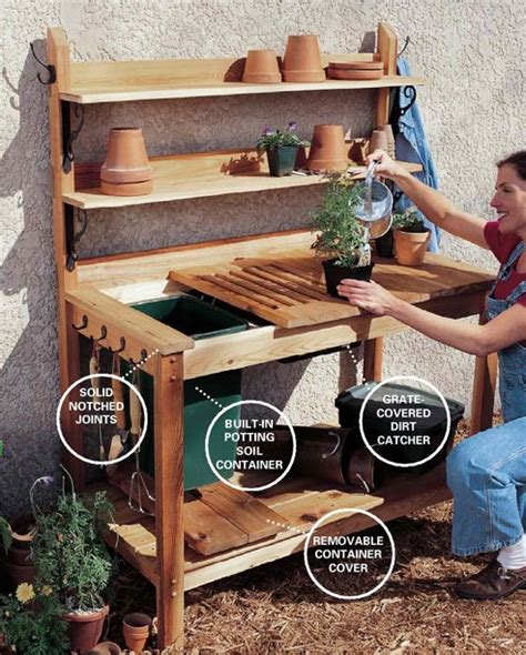 planting bench pdf diy cedar potting bench plans download cedar pergola plans 187 woodworktips