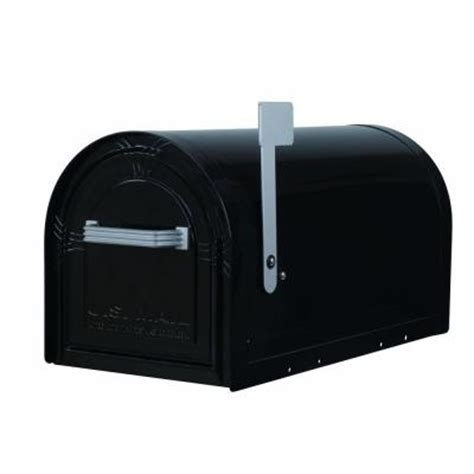 gibraltar mailboxes wyngate black locking post mount