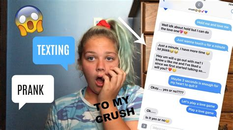 song about crush not liking you texting lyric prank to my crush asks me out youtube
