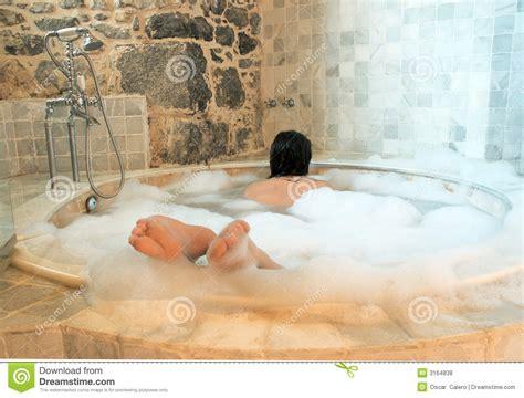 bathtube girl woman in a round bathtube royalty free stock photos