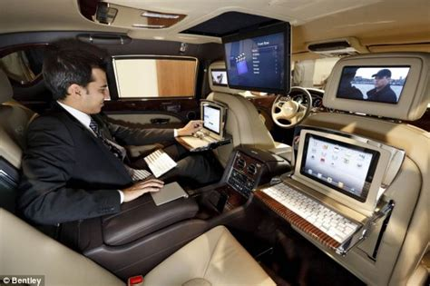 bentley inside view bentley mulsanne executive the car with six screens so