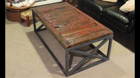 making  reclaimed barnwood coffee table youtube