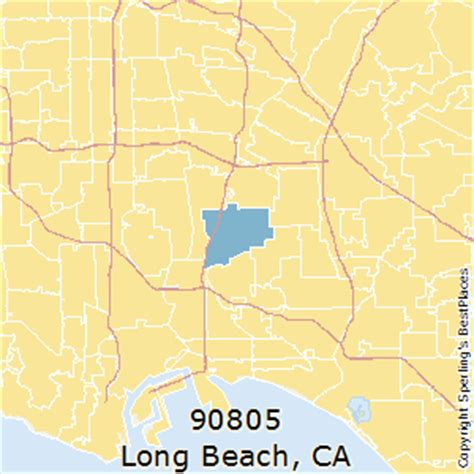 zip code map long beach best places to live in long beach zip 90805 california