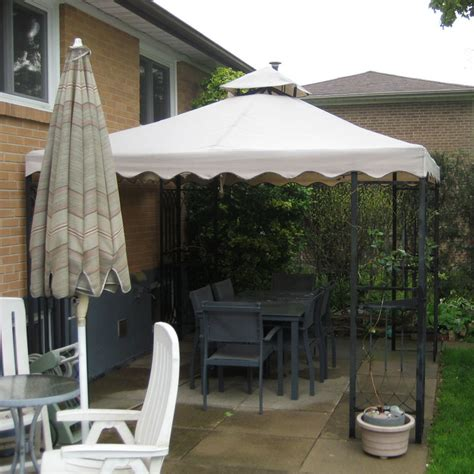 cathedral gazebo replacement canopy garden winds canada