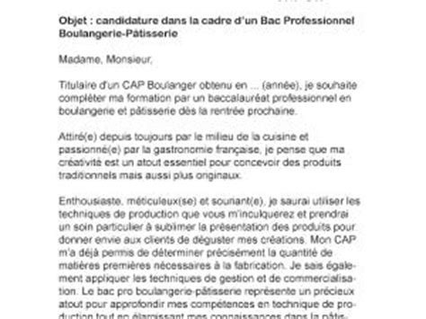 Lettre De Motivation De Boulangerie Lettre De Motivation Bac Pro Boulangerie P 226 Tisserie Par