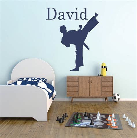 personalized karate decal personalized martial arts wall