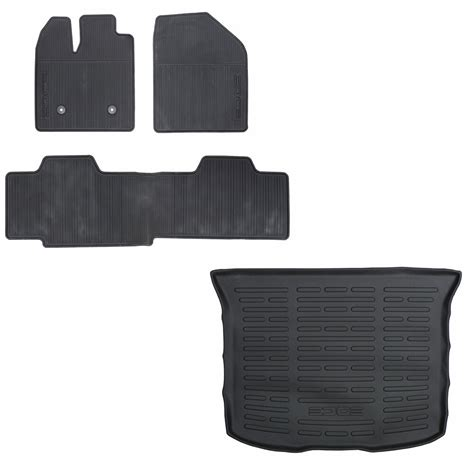 cargo mats for 2014 ford edge 2011 2014 ford edge rubber all weather floor mat cargo