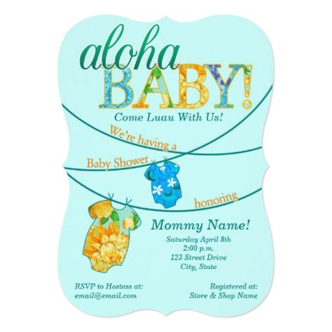 Luau Baby Shower Invitations by Ornate Luau Baby Shower Invitation Zazzle