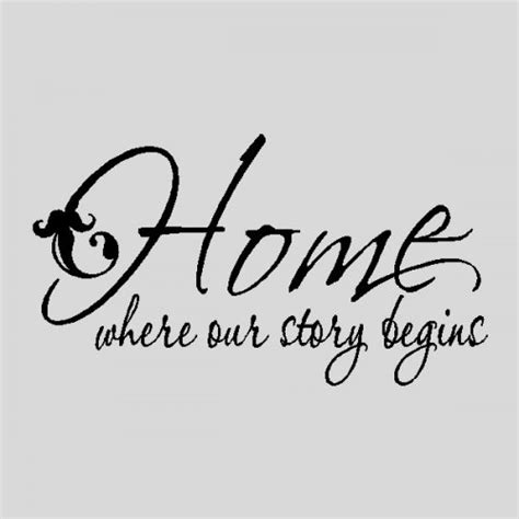 home where our story wall quotes words sayings removable