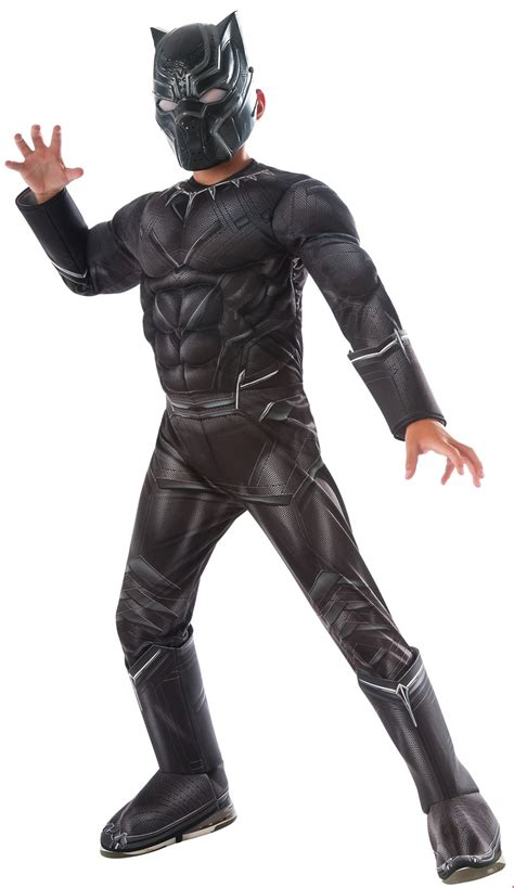 Kaos Civil War Spandex All Size Black marvel s captain america civil war black panther deluxe chest costume buycostumes