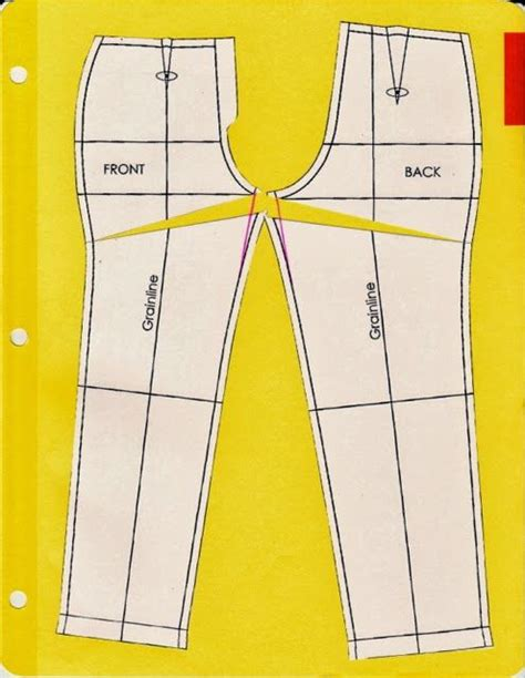 pattern making and alteration pinterest cation designs pants pattern alterations showing in the
