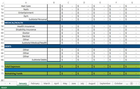 12 Month Budget Spreadsheet by Email You A 12 Month Budget Spreadsheet Fiverr