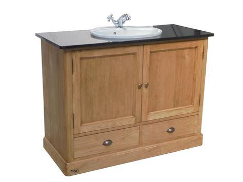 meuble salle de bain 1 vasque en bois massif