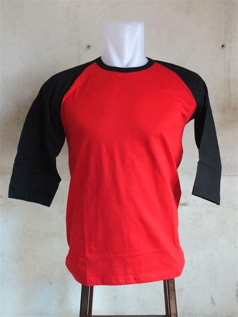 Kaos Armor Merah 3 kaos raglan hitam merah kaos polos kaos polos murah kaos distro grosir kaos polos kaos