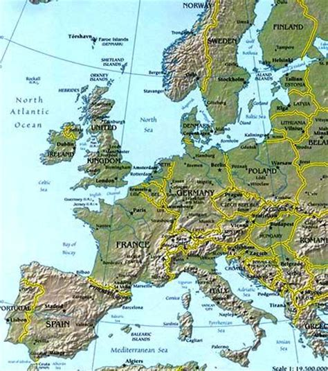 europe map / map of europe facts, geography, history of