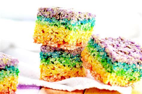 colored rice krispie treats rainbow rice krispie treats the gracious