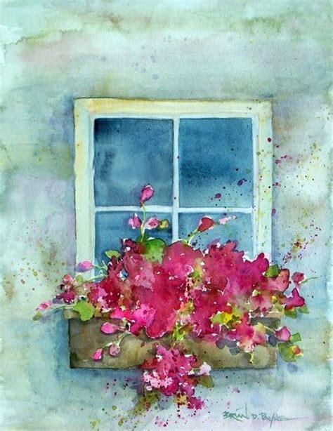 Fenster Bemalen Mit Wasserfarbe by Flower Box Brian D Payne Watercolor
