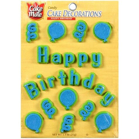 Walmart Cake Decorations by Cake Mate Happy Birthday Cake Decorations Baking
