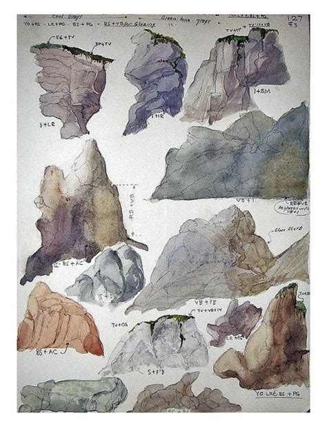 watercolor tutorial sketch 97 best images about how to rocks and cliffs on pinterest