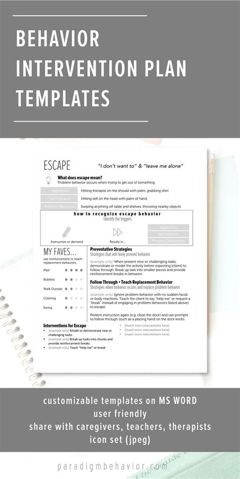 sle behavior intervention plan template 1000 ideas about professional development on