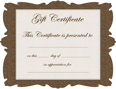 Christmas Gift Certificate Templates Free Printable Gift Certificate Template Powerpoint