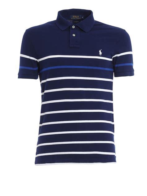 Polo Shirt Polos Original Cotton striped cotton pique polo shirt by polo ralph