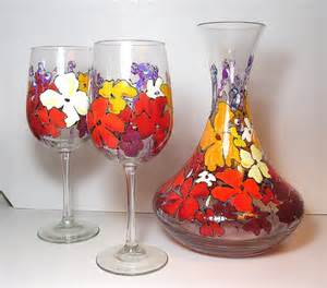 And Wine Glass Set Tuscan Decanter And Wine Glass Set By Artsyfartsyserveware