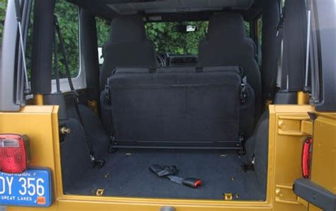 Jeep Wrangler Cargo Space Dimensions 2004 Jeep Wrangler Cargo Space Specs View Manufacturer