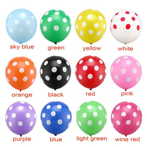 high quality 2 8g 12 inch 20pcs lot pink color polka dot balloons baby shower