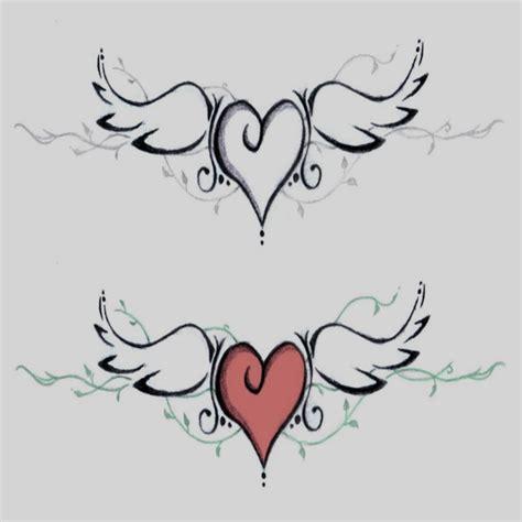 imagenes tatuajes de corazones dibujos corazones alas chidos tatuajes de con para